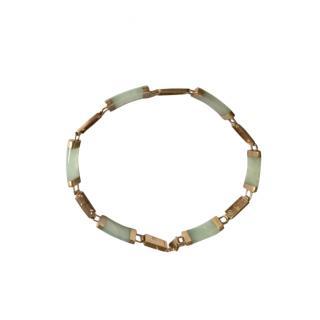 Bespoke Jade 9ct Gold Bracelet