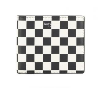 Saint Laurent checkerboard bi-fold wallet