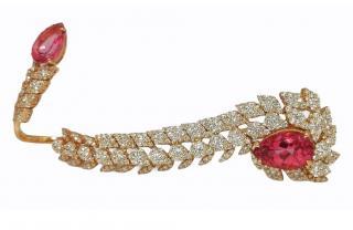 Bespoke Diamond & Tourmaline 18ct Rose Gold Wrap Ring