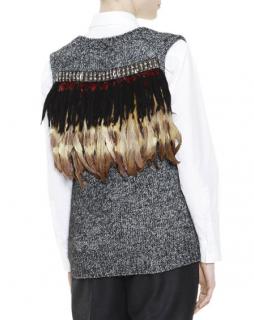 Marni M�lange Feather Jewel-Back Sweater Vest
