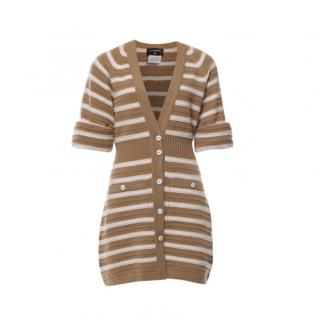 Chanel Manifesto Collection Cashmere Striped Knit Cardigan