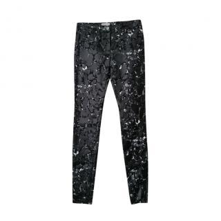 Balenciaga Crackled Coated Black Jeans