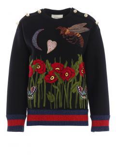 Gucci Garden Knit Embellished Jumper