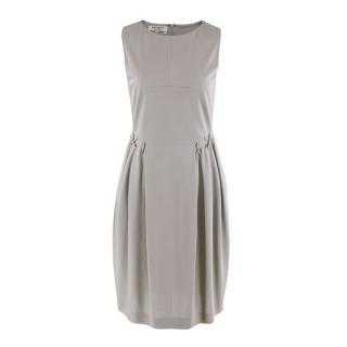 Yves Saint Laurent Vintage Grey Cotton Jersey Laced Dress