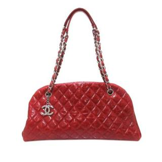 Chanel Aged Calfskin Mademoiselle Patent Bowling Bag