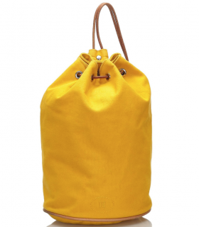 Hermes Yellow Polochon Mimile Canvas Backpack