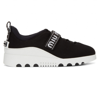 MIu MIu Black Platform Sneakers
