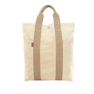 Hermes Fourre Tout Canvas Cabas Bag