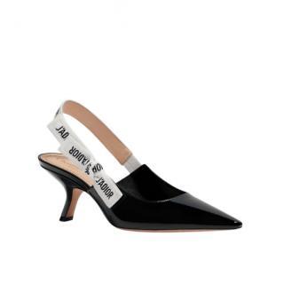 Dior Black Patent J'Adior Slingback Pump