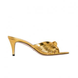 Gucci Gold Knotted Sandals