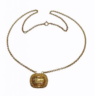 Bespoke Gold Georgian Rock Crystal Pendant Necklace