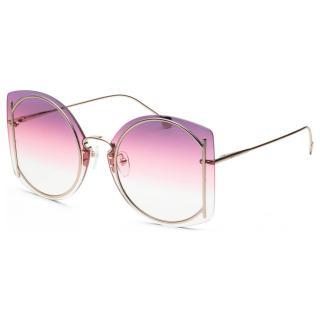 Salvatore Ferragamo Violet/Rose Gold Oversize Sunglasses