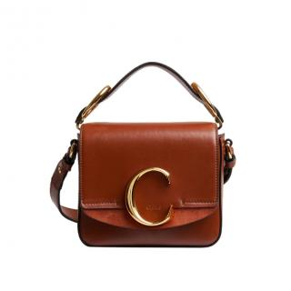 Chlo� C mini bag in shiny & suede calfskin