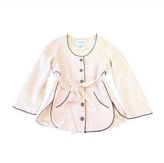Chanel Contrast Piping Pale Pink Tweed Jacket