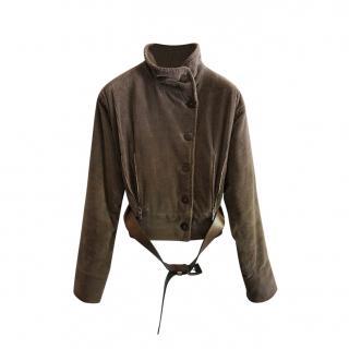 Armani Collezioni Corduroy Belted Jacket