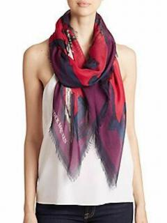 Alexander McQueen Silk Blend Multicoloured Scarf