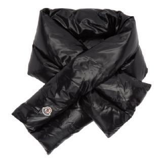Mocler black down filled scarf