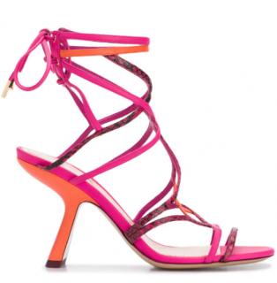 Nicholas Kirkwood Fuchsia & Orange Selina 90mm Sandals