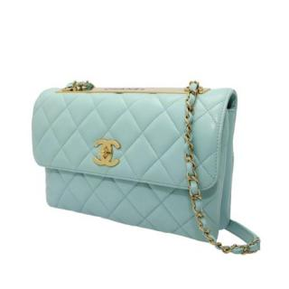 Chanel Blue Trendy CC Quilted Flap Bag