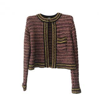 Missoni multi coloured metallic thread knit jacket