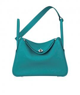 Hermes turquoise malachite swift leather Lindy shoulder bag