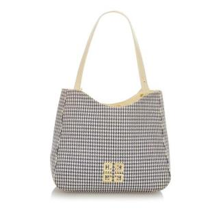 Givenchy Vintage Houndstooth Canvas 4G Tote Bag