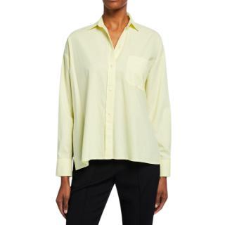 Vince Yellow Silk & Cotton Blouse