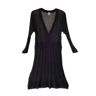 M Missoni Black Lightweight Knit Dress