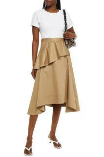 3.1 Philip Lim Bi-Colour Tiered Cotton-Jersey Midi Dress