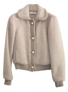 Prada Camel Boucle Wool & Mohair Jacket
