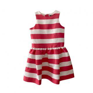 Lili Gaufrette Striped Satin 12Y Dress