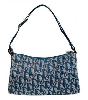 Dior Blue Oblique Monogram Shoulder Bag