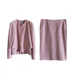 Chanel Pale Pink Fantasy Tweed Jacket & Skirt