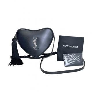 Saint Laurent Black Heart Monogram Crossbody Bag