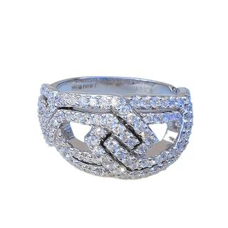 William & Son 18ct White Gold London Collection Diamond Ring