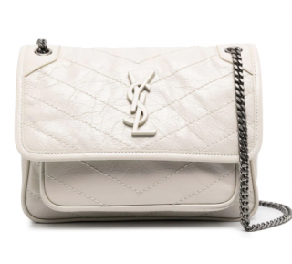 Saint Laurent Niki Medium Ivory Leather Shoulder Bag