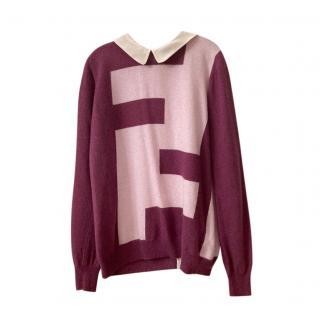 Fendi Kid's Pink Wool & Cashmnere Jumper