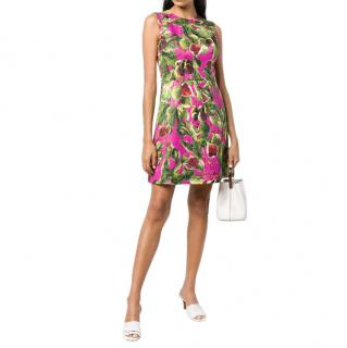 Dolce & Gabbana Brocade Fig Print Dress