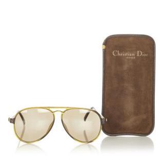 Dior Round Aviator Tinted Sunglasses