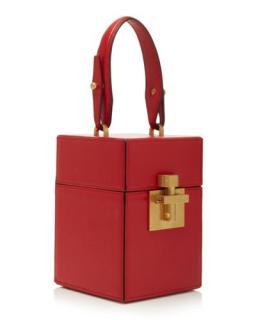 Oscar de la Renta Leather Alibi Box Top Handle
