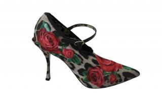 Dolce & Gabbana Leopard & Rose Print Mary-Janes