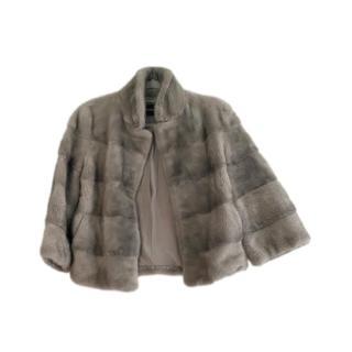 Flavio Castellini Grey Mink Fur Jacket