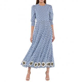 Rixo Kristen gingham cotton maxi dress
