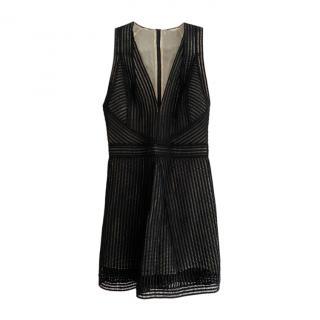 Kaufmanfranco Black Embroidered Mini Dress