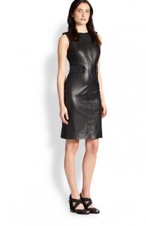 Tory Burch Luisa Leather Paneled Dress