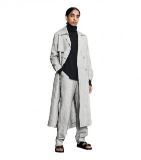 Varana Grey Linen Trench Coat