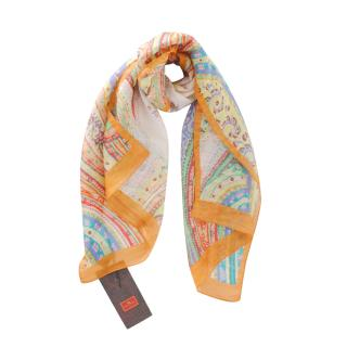 Etro Linen & Silk Blend Paisley Scarf