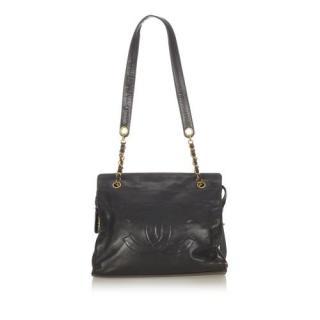 Chanel Black Vintage Lambskin CC Shoulder Bag