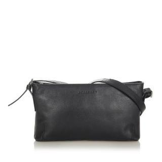 Burberry Black Grained Leather Crossbody Bag