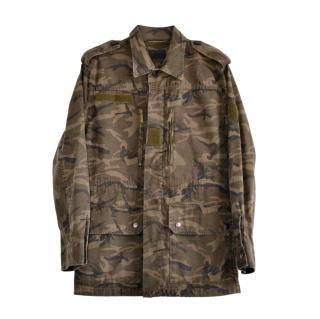 Saint Laurent Camo Print Parka Jacket